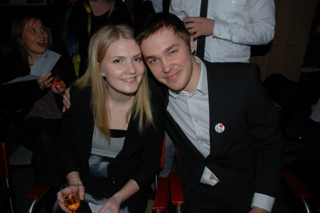 Minä ja Lissu Tiimiakatemian valmistujaisjuhlassa joulukuussa 2011. Kuva: LeTim